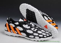 Cheap TF Black/White/Orange ADIDAS Predator Instinct Mens