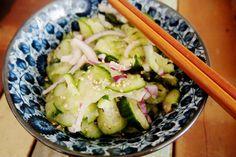 Groen zonder poen: pittige komkommersalade met gember