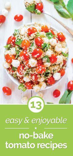 13 Easy & Enjoyable No-Bake Tomato Recipes | thegoodstuff