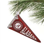 Alabama Crimson Tide Glass Pennant Ornament