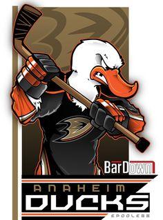 Ducks Hockey, Ice Hockey, Anaheim Ducks, National Hockey League, Deviant Art, Cool Cartoons, Art Pages, Cartoon Characters, Posters