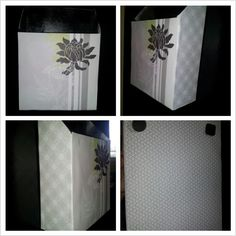Cereal box, cover with scrapbook paper for mail :)