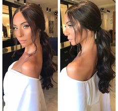 23 Cute Prom Hairstyles for 2019 - Updos, Braids, Half Ups & Down Dos - Style My Hairs Cute Prom Hairstyles, Sleek Hairstyles, Bride Hairstyles, High Ponytail Hairstyles, Beach Hairstyles, Bandana Hairstyles, Men's Hairstyle, Hairstyles Haircuts, Long Hair Ponytail