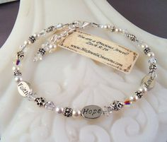 New Swarovski Clear Bicone Bead by HisJewelsCreations on Etsy, $28.00