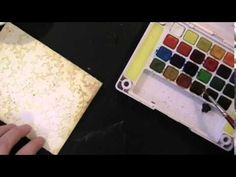 VIDEO TUTORIAL: Creating a textural background with stencils and a watercolor butterfly featuring Penny Black stamps and dies