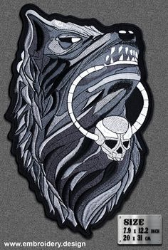 SEW ON BIKER MOTORCYCLE PATCH 90mm by 75mm LONE WOLF