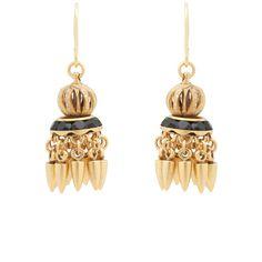 Elizabeth Cole Alisha Tassel Earrings ($185) ❤ liked on Polyvore featuring jewelry, earrings, gold, 24 karat gold earrings, 24 karat gold jewelry, swarovski crystal earrings, 24k earrings and 24k jewelry