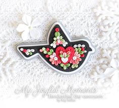 This is s one of a kind, handcrafted ornament made of durable polymer clay, with much attention given to detail and careful construction. No molds have been used, so you can be sure you are receiving a unique and one of a kind keepsake. This ornament measures approximately 4 inches