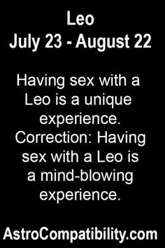 A leo woman sexuality