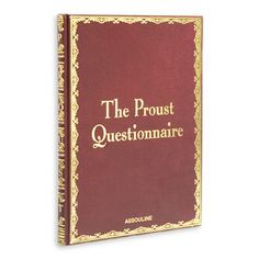 The Proust Questionnaire - inspiring and entertaining!