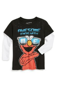 Mighty Fine 'Sesame Street® - Awesome Me' Long Sleeve T-Shirt (Toddler) available at #Nordstrom