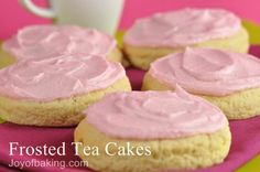 pink tea cakes more tea cakes cakes recipe cakes frosted cakes tested ...