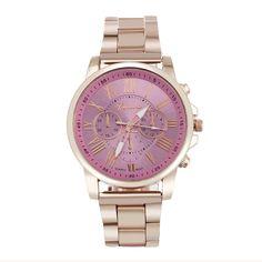 2fbf83635b71b erkek kol saati Colorful Womens Mens Stylish Fashion watch Roman numberals  Stainless Steel Big Dial Watch Quartz Sports Watch-in Women s Watches from  ...