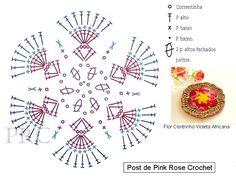 ╭✿✿╯ Flor em  Crochê -  /  Flower Crochet - ╭✿✿╯