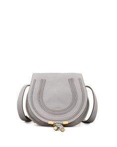 Marcie+Small+Leather+Crossbody+Bag,+Gray+by+Chloe+at+Bergdorf+Goodman.