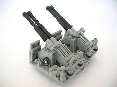 Bofors 40mm AA Cannon rear