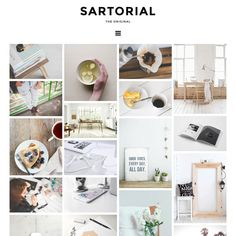 Sartorial: A fully responsive mosaic Blogger/Blogspot template Dynamic Logo, Custom Web Design, Website Logo, Grid Layouts, Blog Layout, Social Icons, Wordpress Template, Blog Design, Design Design