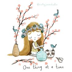My name is Cally and I'm a children's book illustrator based on the beautiful Northumberland coast. I've been working in children's publishing for many years, it truly is a dream job. Yoga Illustration, Illustration Artists, Yoga Cartoon, Time Pictures, Spiritus, Yoga Art, Positive Messages, Picture Credit, Cute Quotes