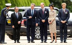 (From second left) French President Francois Hollande, Prime Minister David Cameron, the Duke and the Duchess of Cambridge and Prince Harry arrived at the service together