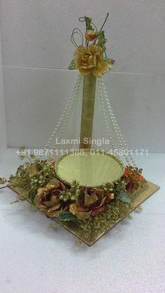 Diy Wedding Ring, Wedding Doll, Wedding Crafts, Engagement Ring Platter, Engagement Brunch, Wedding Gift Baskets, Wedding Gift Wrapping, Indian Wedding Gifts, Indian Wedding Decorations