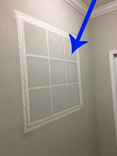 This is SO cool! Create a window effect with mirror squares! #windows #FauxFinish