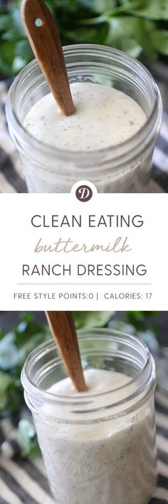 Clean Eating Buttermilk Ranch Dressing