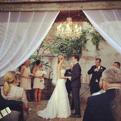Beautiful courtyard wedding