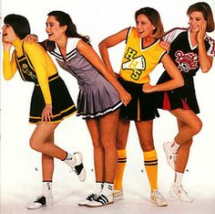 Love the memories from seeing this page in the cheer catalog! Love the triple lined saddle shoes and knee socks! Cheerleading Pictures, Cheerleading Uniforms, Hot Cheerleaders, Outdoor Fashion Photography, Teen Skirts, Band Uniforms, Varsity Sweater, Retro Girls, Saddle Shoes