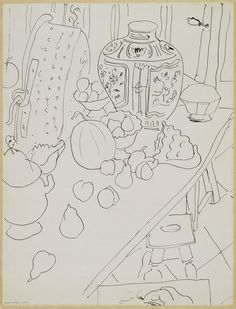 Still Life, India ink,  Henri Matisse, 1940s /  Centre Pompidou, Paris