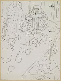 Still Life, India ink,  Henri Matisse, 1940s /  Centre Pompidou, Paris