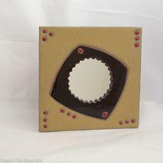 Chocolate and Mustard Artistic Geometry by MarinaBosettiDesigns, $35.00