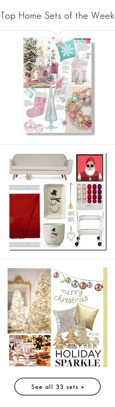 """Top Home Sets of the Week"" by polyvore ❤ liked on Polyvore featuring interior, interiors, interior design, home, home decor, interior decorating, Cody Foster & Co., K&K Interiors, HolidayParty and deckthehalls"