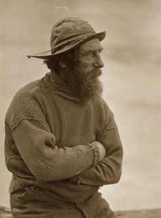 oldsparky: Fisherman with sydvest, c.1850, Frank Meadow Sutcliffe.