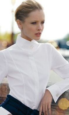 b5a2e823995b60 Essence of a woman. White BlousesWhite ShirtsCrisp White ShirtClassic ...
