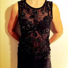 Dries Van Noten sheer beaded embroidered top A stunning and highly detailed peace – 100% silk. Size 36 European. This top is covered in hand embroidery and intricate beadwork. There is also embroidery in a wool thread which is textured and makes the top a very beautiful layering piece for the winter. A highly unique find. Originally $850 - Will sell for $275 Dries van Noten Tops Blouses Wool Thread, Fashion Tips, Fashion Design, Fashion Trends, Beadwork, Hand Embroidery, Layering, Van, Blouses