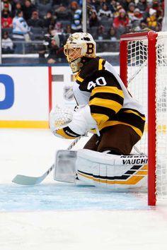 751bb8b68 Blackhawks vs. Bruins. Goalie PadsGoalie GearBoston Bruins GoaliesNhl ...