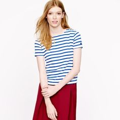 Saint James for j crew shrunken stripe tee New with tag.  No trades.  Price firm unless bundled. J. Crew Tops Tees - Short Sleeve