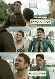 A whole THREE OUNCES!!  Todd Brotzman (Elijah Wood) - Dirk Gently's Holistic Detective Agency