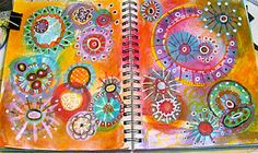 Artful Musings: Art Journaling Workshop (pics of her examples from the Doodles Unleashed class)