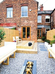 Fire Pit in the middle!!!  Transforming a derelict terraced house | Real Homes | Home improvement and decorating inspiration
