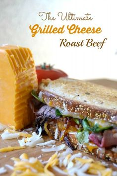 You Have Meals Poisoning More Normally Than You're Thinking That Layers Of Wisconsin Cheddar And Gouda Cheeses, Caramelized Onions, Plum Chutney And Roast Beef Make Up This Incredible Grilled Cheese Sandwich Ultimate Grilled Cheese, Grilled Cheese Recipes, Beef Recipes, Cooking Recipes, Grilled Cheeses, Grilled Sandwich, Soup And Sandwich, Sandwich Recipes, Tender Roast Beef