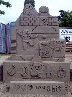 awesome 8-bit sand art.