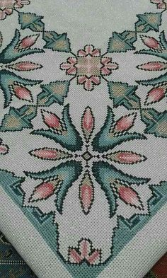 This Pin was discovered by Neş Beaded Cross Stitch, Cross Stitch Borders, Cross Stitch Flowers, Cross Stitch Designs, Cross Stitching, Cross Stitch Patterns, Wool Embroidery, Modern Embroidery, Cross Stitch Embroidery