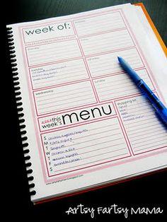 planner pages, organ, meal planner, weekly menu, menu planners, weekly planner, planner printabl, shopping lists, week planner