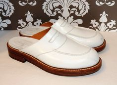 J.M. Weston Womens Size 8 UK  5.5 D Wide White Leather Slip On Loafers Ret$2000 #JMWeston #LoafersMoccasins $99 Buy it now only $294