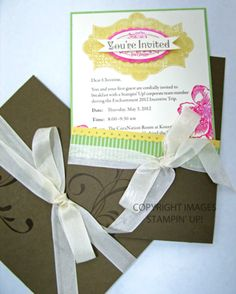 Stampin' Up! Invitation