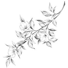 Flower Drawing Images, Flower Tattoo Drawings, Tattoo Design Drawings, Flower Tattoos, Mini Tattoos, Cute Tattoos, Body Art Tattoos, Small Tattoos, Sleeve Tattoos