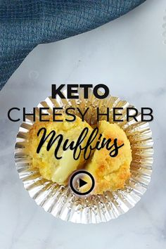 Keto Cheesy Herb Muffins by I Breathe I'm Hungry.