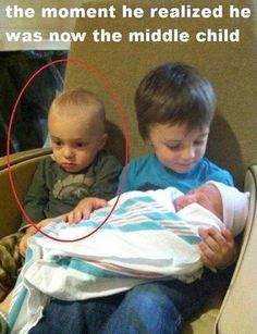 When you are the middle child #Baby, #Funny, #Kids