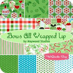 Bows All Wrapped Up Fat Quarter Bundle Maywood Studios Fabric